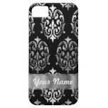 Black & silver damask iPhone 5 case