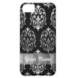 Black & silver damask iPhone 5C cases