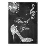 Black & Silver Disco Ball Sparkle Heels Thank You