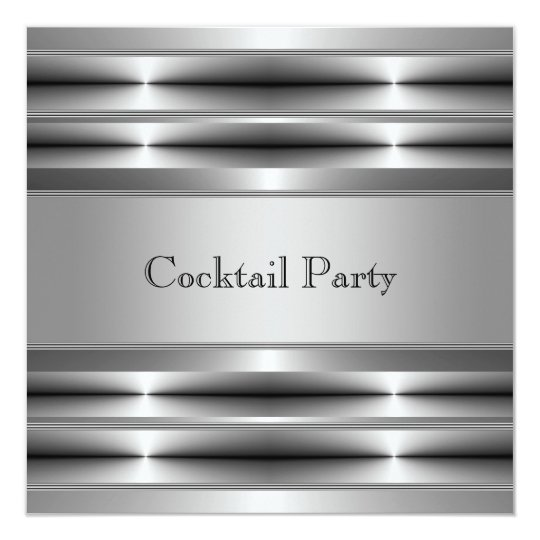 Black Silver Mans 30th Birthday Party Card