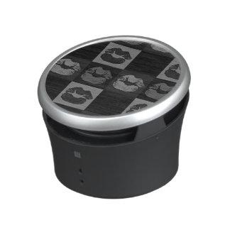 Black Silver Sassy Lips Bluetooth Speaker