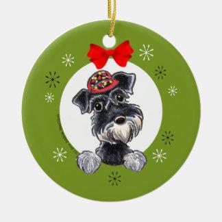 Black Silver Schnauzer Christmas Classic Christmas Ornament