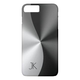Black & Silver Stainless Steel Metallic Print iPhone 8 Plus/7 Plus Case