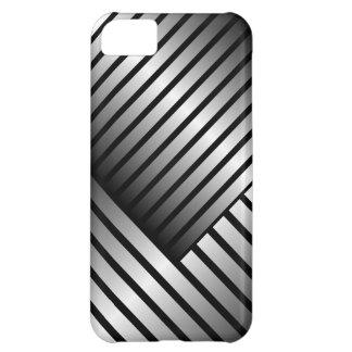 Black Silver Stripe iPhone5 Case
