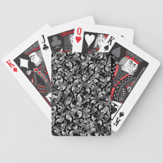 Black & Silver Twining Leaves Bicycle Playing Cards