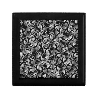 Black & Silver Twining Leaves Gift Box