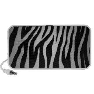 Black & Silver Zebra Mini Speakers