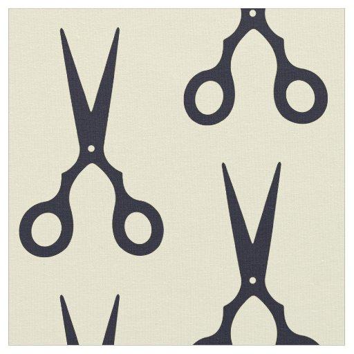 Black Simple Hair Scissors (Barber / Hairdresser) Fabric