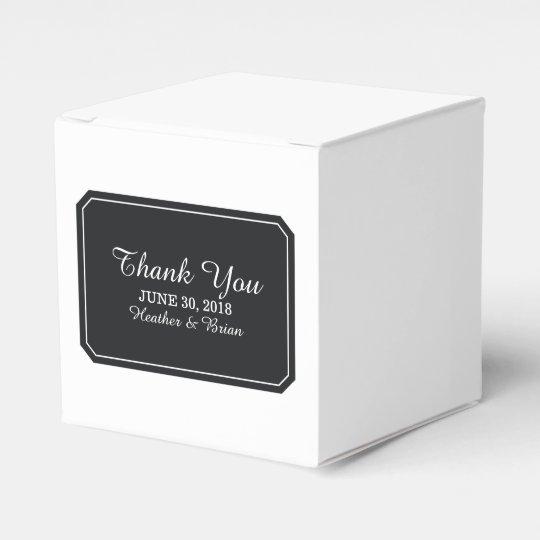 Black Simply Elegant Favour Boxes
