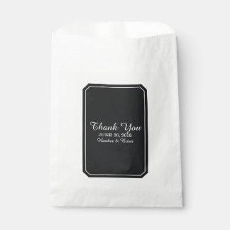 Black Simply Elegant Wedding Favour Bags