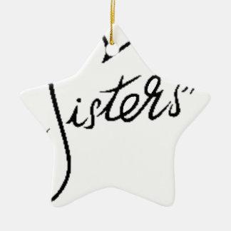 black sisters christmas ornament