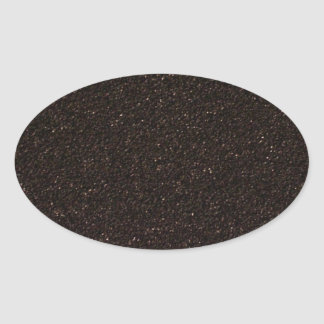 Black Skateboard Griptape Oval Sticker