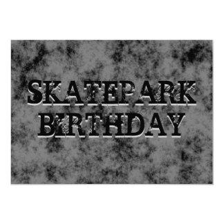 Black Skatepark Teen Boy Birthday Party 5x7 Paper Invitation Card