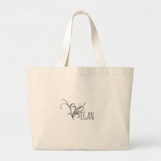 Black Sketch Vegan Jumbo Shopping Tote  Bag