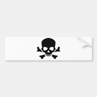 black skull and cross bones bumper sticker