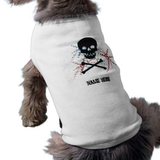 Black Skull doggy Tshirt