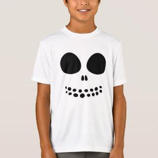 Black Skull Face Boys' Shirt