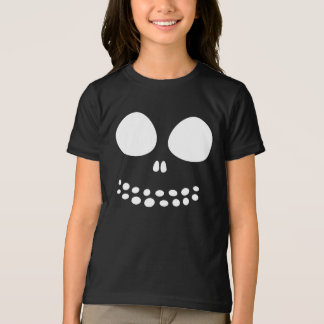 Black Skull Face Girls Shirt