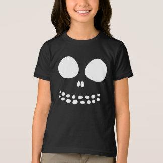 Black Skull Face Girls Shirt