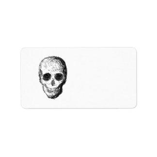 Black Skull. Address Label