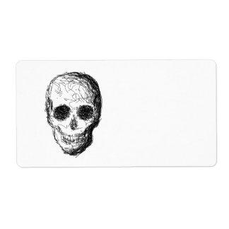 Black Skull. Shipping Label