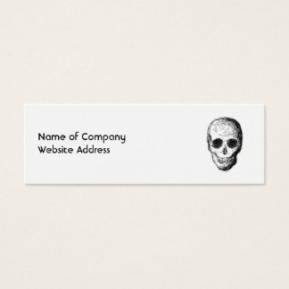 Black Skull. Mini Business Card