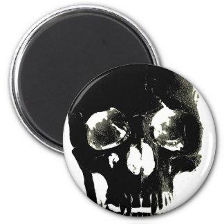 Black Skull - Negative Image 6 Cm Round Magnet