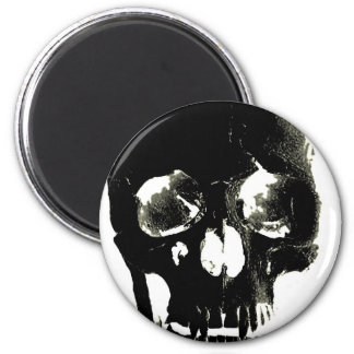 Black Skull - Negative Image Magnet