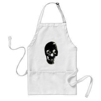 Black Skull - Negative Image Standard Apron