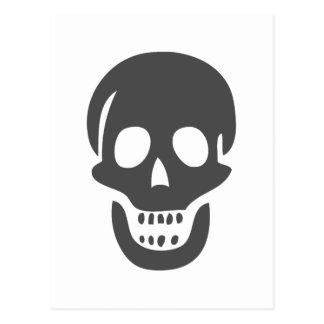Black Skull Postcard