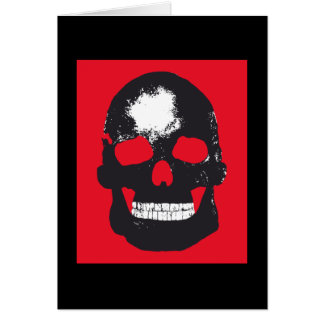 Black Skull Silk Screen Greeting Card