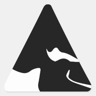 Black Skull Triangle Sticker