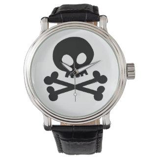 Black skull watch