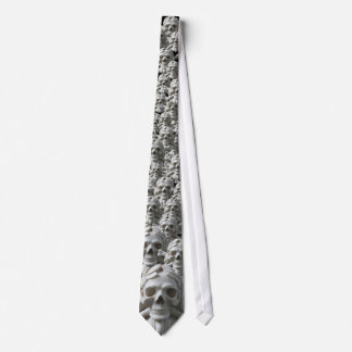 Black Skulled Tie with Pirate Skulls & Bones