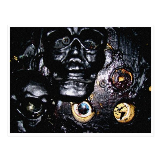Black Skulls and Eye Sockets Postcard