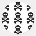 Black Skulls Classic Round Sticker