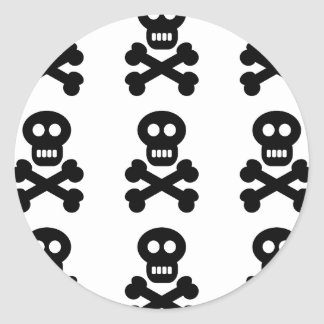 Black Skulls Round Sticker