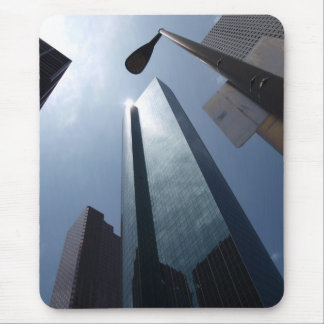 Black Skyscraper Mouse Pad