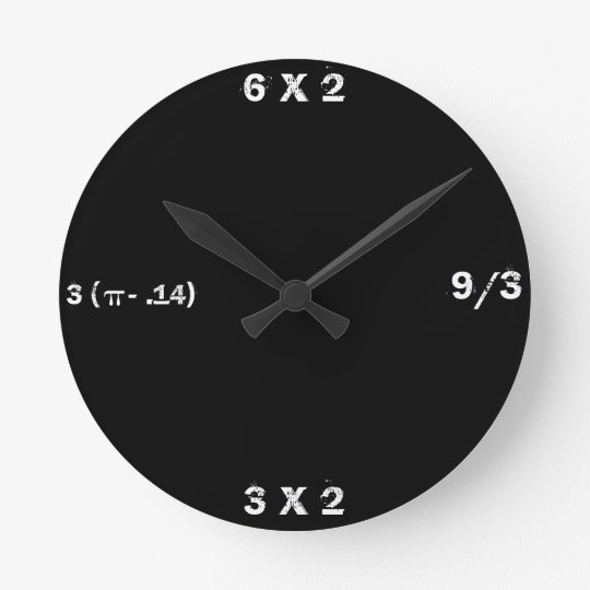 Black Slate Math Clock