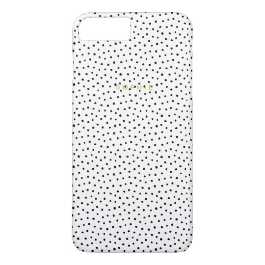 Black Small Polka Dot iPhone 7 Plus Case