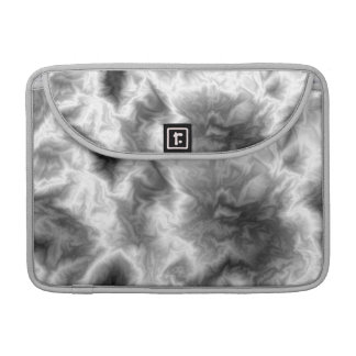 Black Smoke Effect Macbook Sleeve with flap Sleeves For MacBook Pro