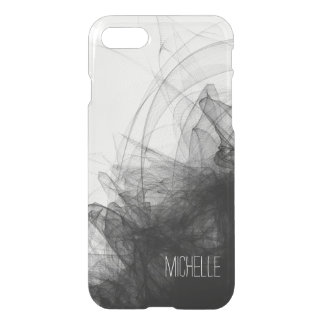 Black Smoke with Name iPhone 7 Case