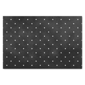 Black Smudge Color with White Polka Dots Tissue Paper