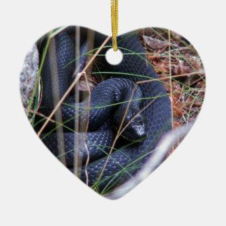 Black snake christmas ornament
