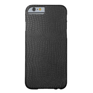 Black Snakeskin Faux Leather Pattern Look Barely There iPhone 6 Case