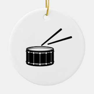 black snare graphic with sticks.png round ceramic decoration