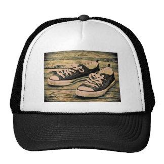 Black sneakers cap