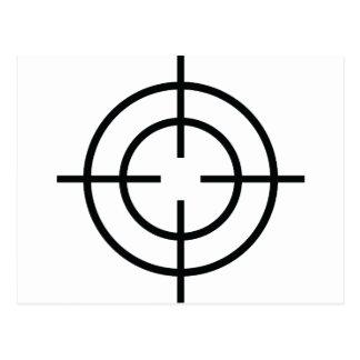 black sniper crosslines icon post cards