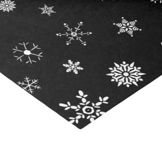 Black Snowflake Tissue Paper