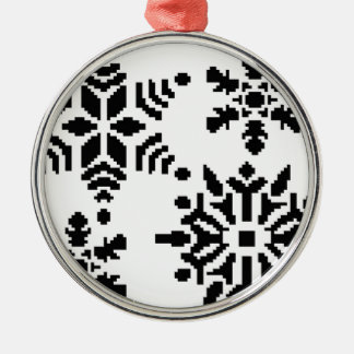 Black snowflakes christmas ornament